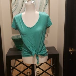 Cute and Summery Knotted Front Top from Express